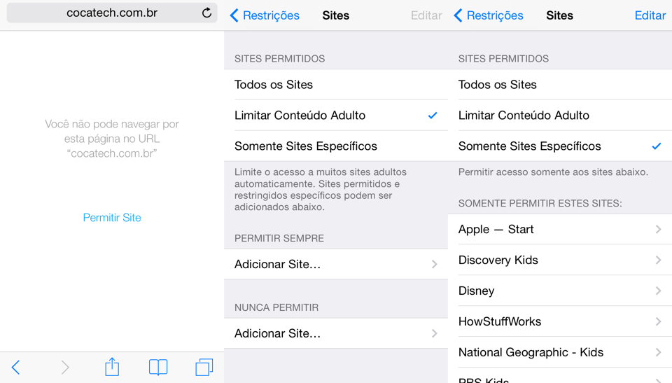 Photo of Bloqueie o Acesso a Sites no iOS