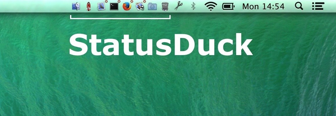 Photo of StatusDuck, dock na barra de menus