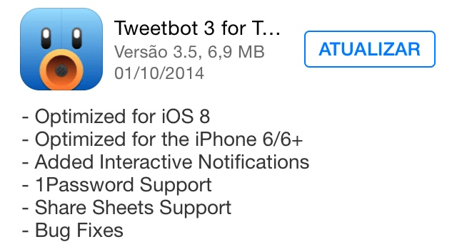 Photo of Tweetbot 3.5 na Área, iOS 8 e iPhone 6