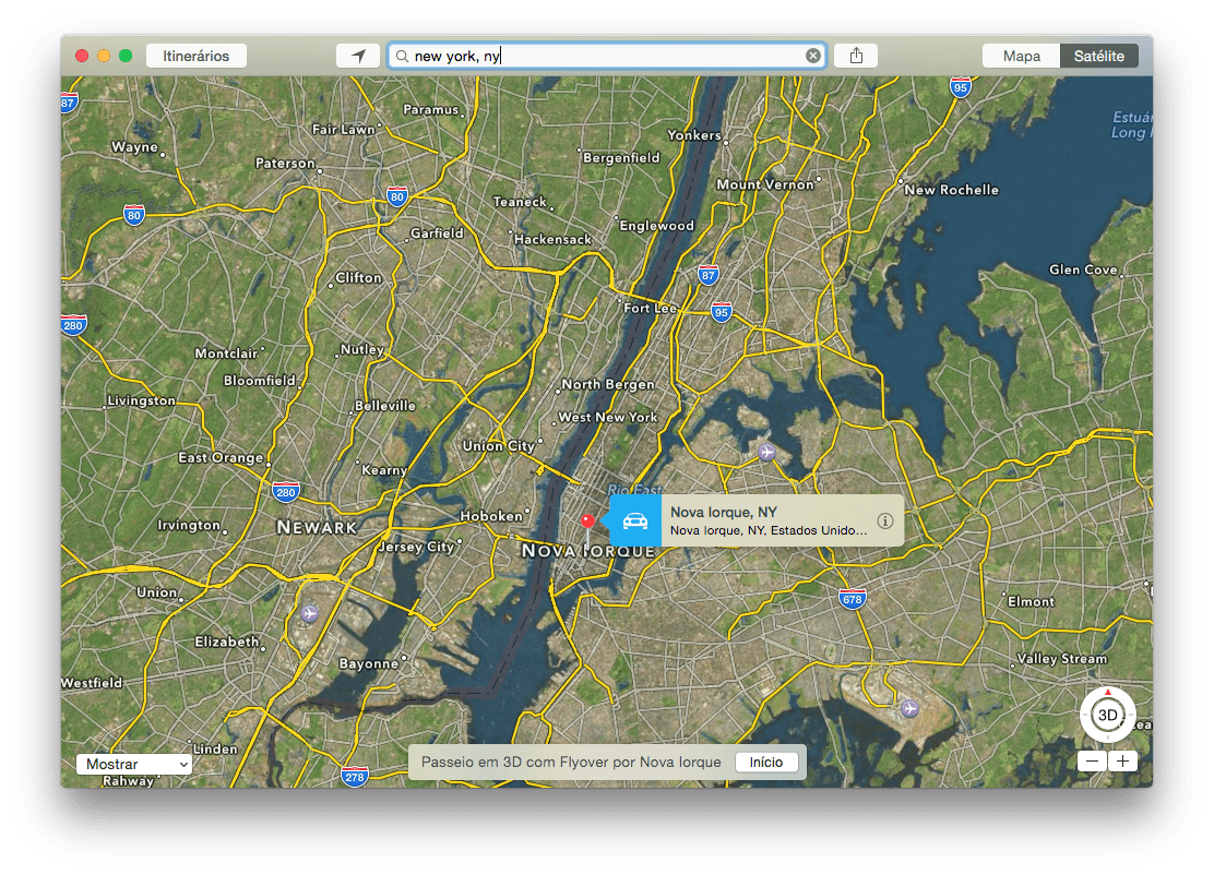 Photo of Passeio 3D com Flyover on OS X