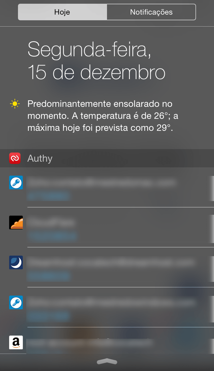 Photo of Authy 17 para iOS na Área, wigdgets