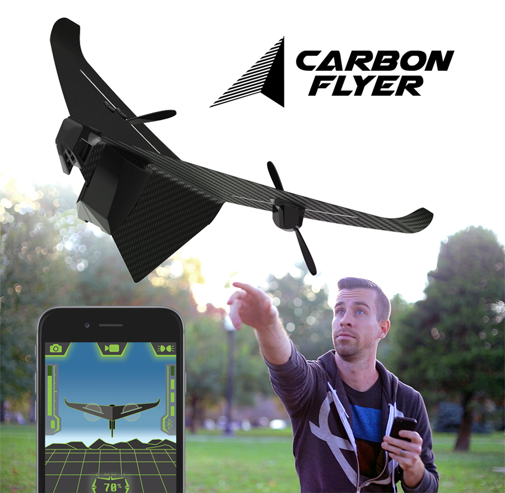 Photo of Carbon Flyer, drone duro na queda