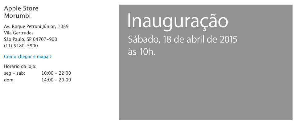 Photo of Apple Store Morumbi inaugura dia 18 de abril