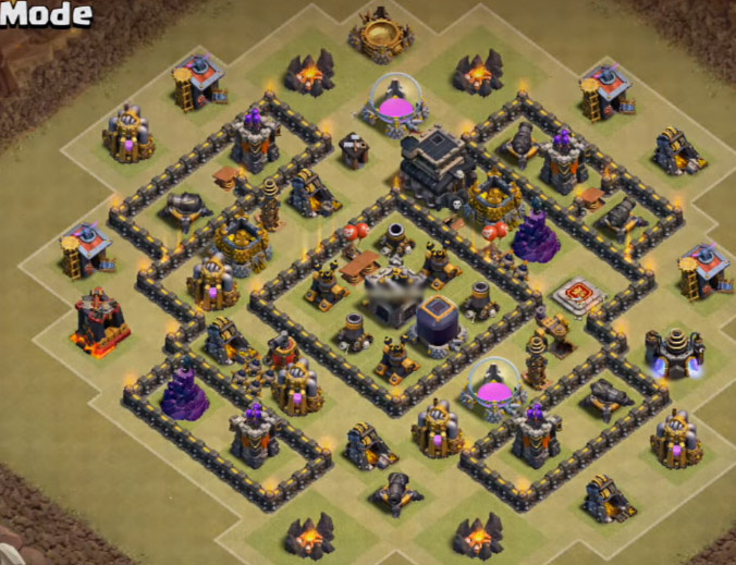 th7 war base anti dragon new