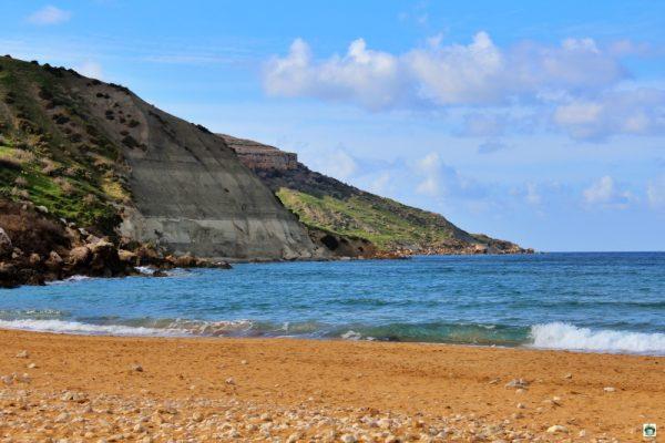 spiaggia rossa di Gozo