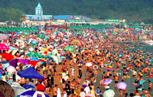 Spiaggia cinese Fujiazhuang Cina - Cocco on the road