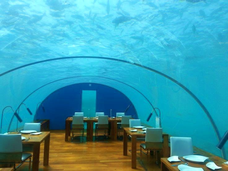 Hilton Conrad Restaurant cena romantica sott'acqua