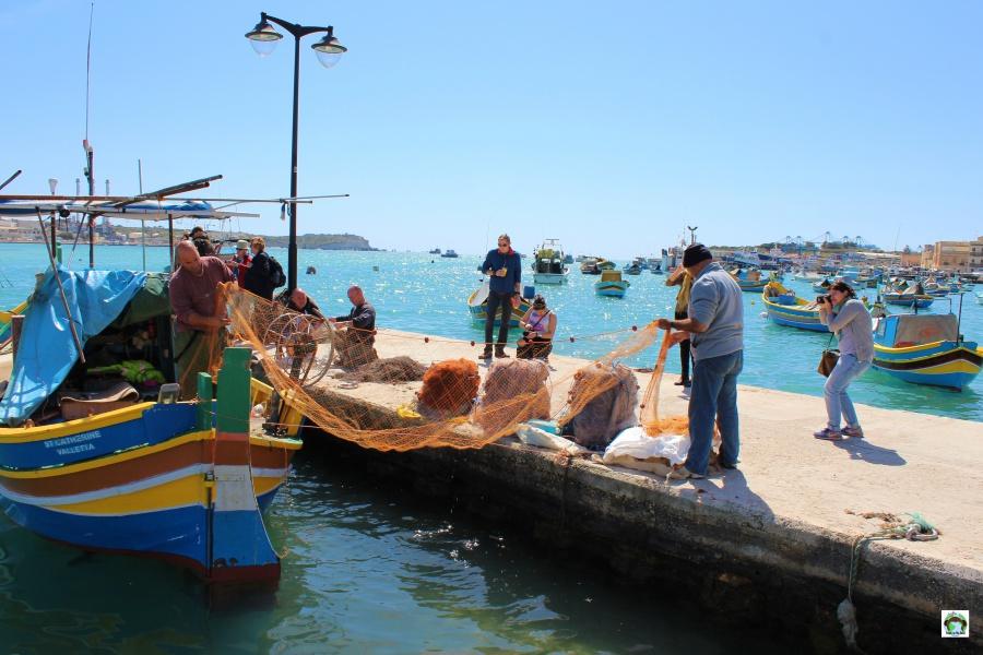 Marsaxlokk paese dei pescatori di Malta