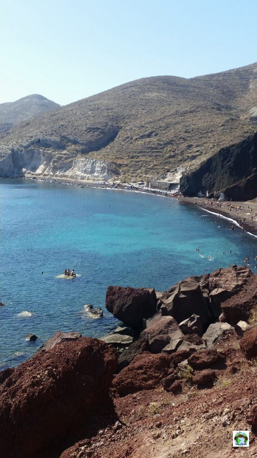 Red Beach a Santorini - Cocco on the road