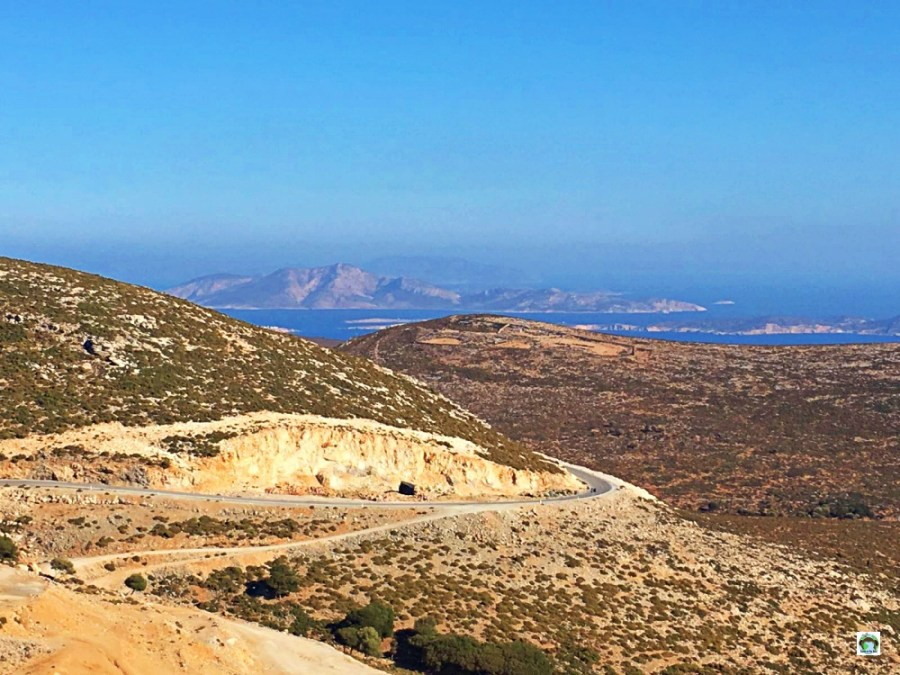Isola di Naxos panorama dalle montagne - Cocco on the road