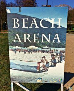 Beach Arena Lago Santa Croce - Cocco on the road