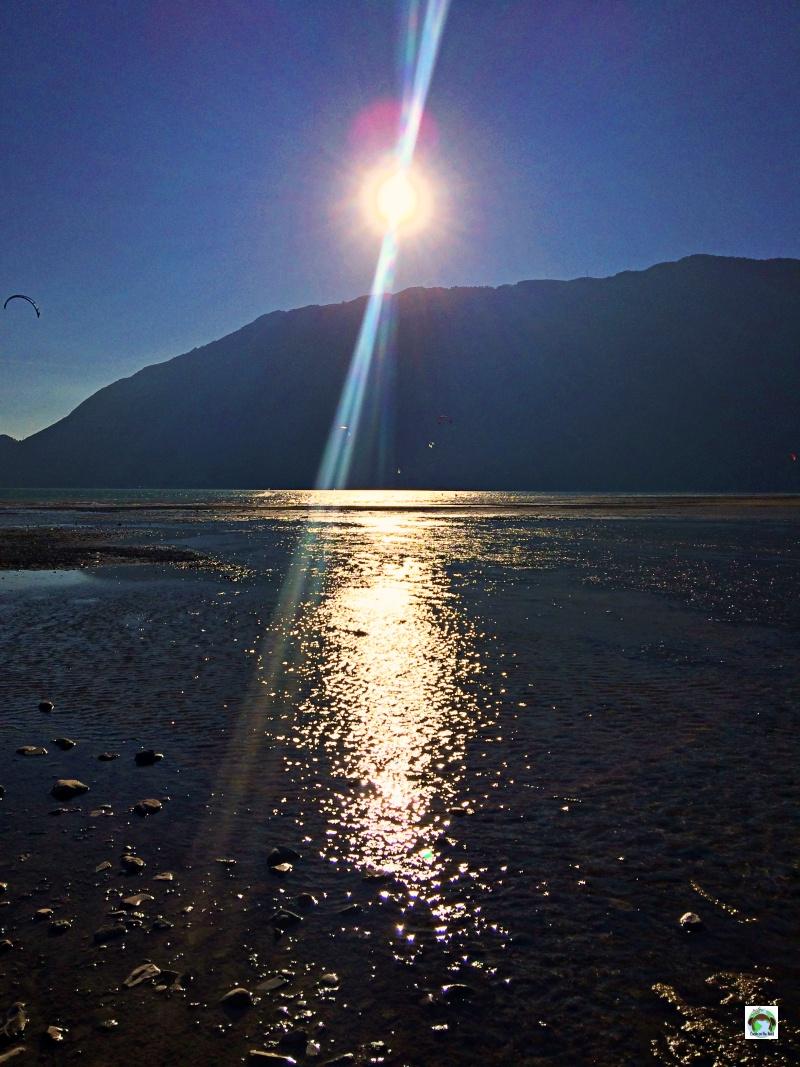 Panorama dall'Alpago lago Santa Croce