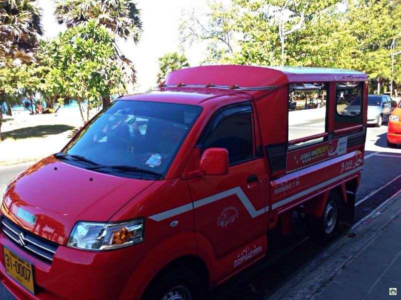 taxi, bus, barche e carretti in Thailandia