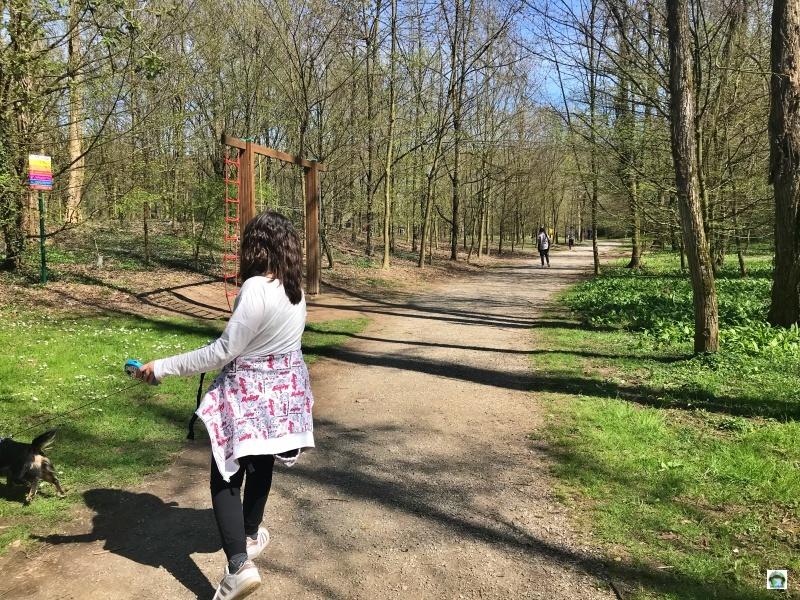 Parco bambina cane percorso salute
