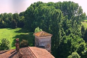 panorama Castello di Padernello vista dal Mastio