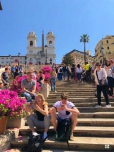La scalinata di Piazza di Spagna