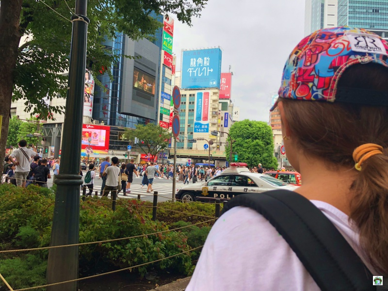 Incrocio famoso a Tokyo Shibuya Cossing