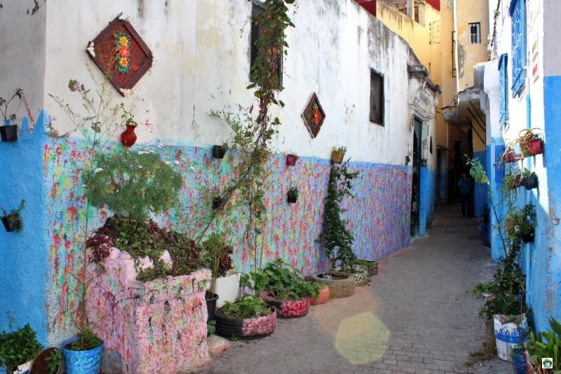 muri colorati Medina Tangeri