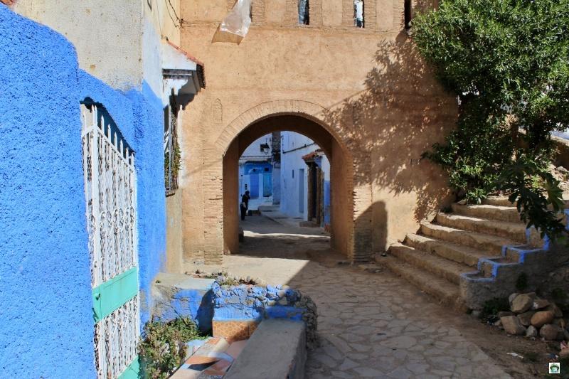 città blu Marocco tradizionale