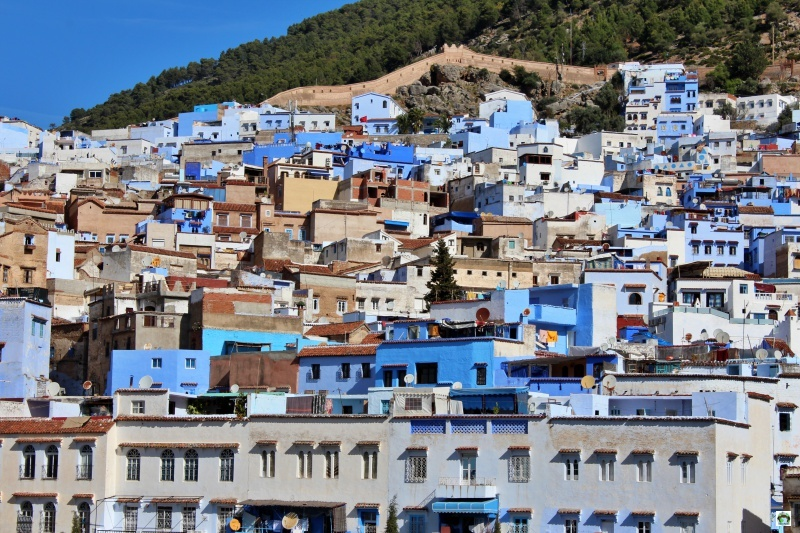 Chefchaouen panorama case