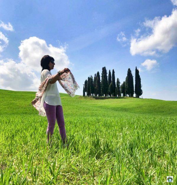 cipressi val d'Orcia Toscana