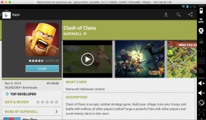 Search and Install Clash of Clans