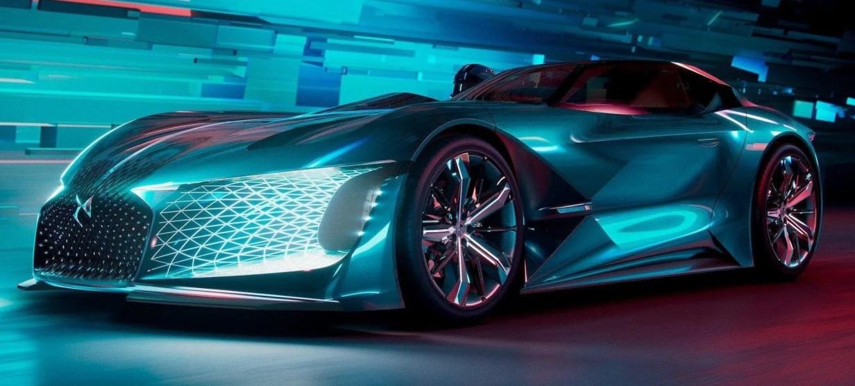 ds x e-tense concept en el auto show coche eléctrico