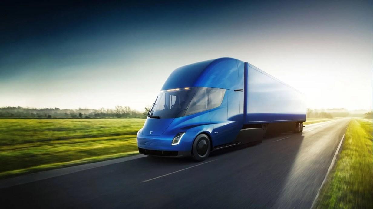 camión Tesla eléctrico