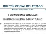 Real Decreto 1053/2014 Infraestructura de coches eléctricos