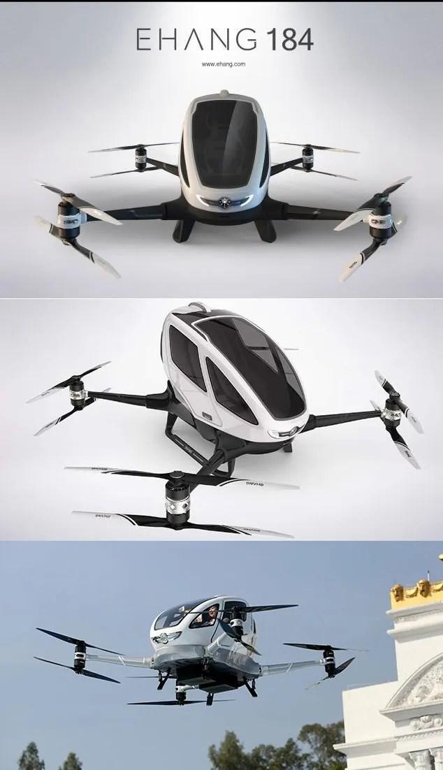 EHang 184, el dron volador taxi