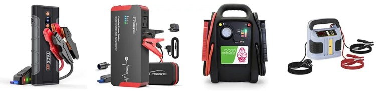 varios tipos de arrancadores de baterias para coche