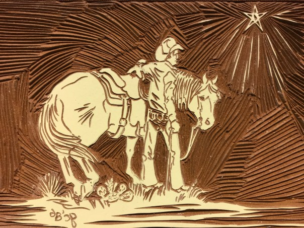 Toad standing next to his horse looking toward the eastern star