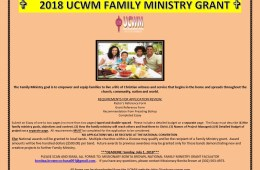 2018 Family Ministry Grant