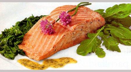 salmón y berro