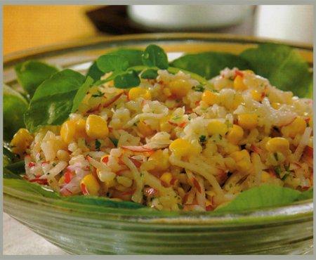 apetitosa ensalada de arroz integral