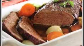 Carne al horno con vegetales