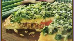 Pizza al verdeo rellena