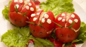 Las verduras como alimento para los niños.