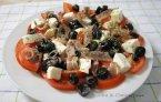Ensalada de tomates mediterranea
