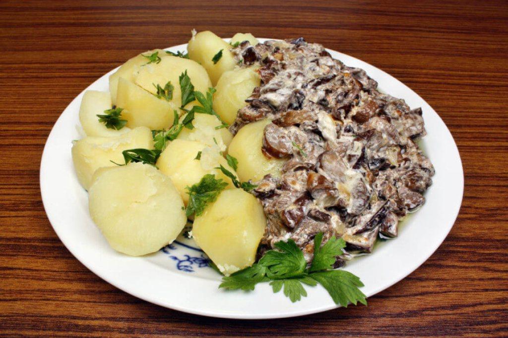 Patatas cocidas con salsa de boletus | Foto: Adam88x/Bigstock