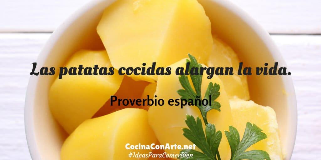 Las patatas cocidas alargan la vida