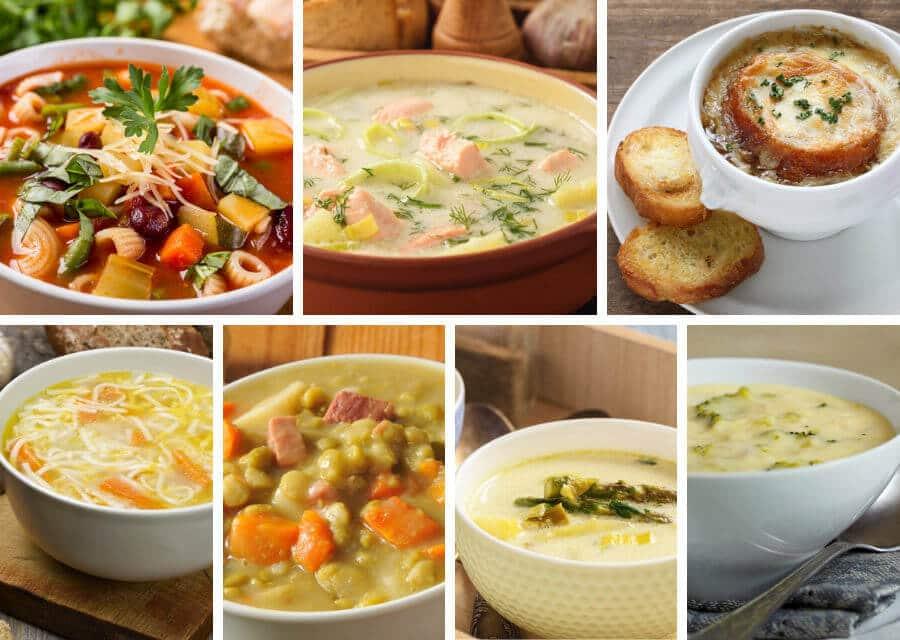 7 recetas de sopas sabrosas y nutritivas