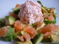 Ensalada de Aguacate salmón y queso crema - Cocina de Valen