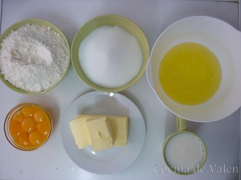 Ingredientes Rainbow Cake