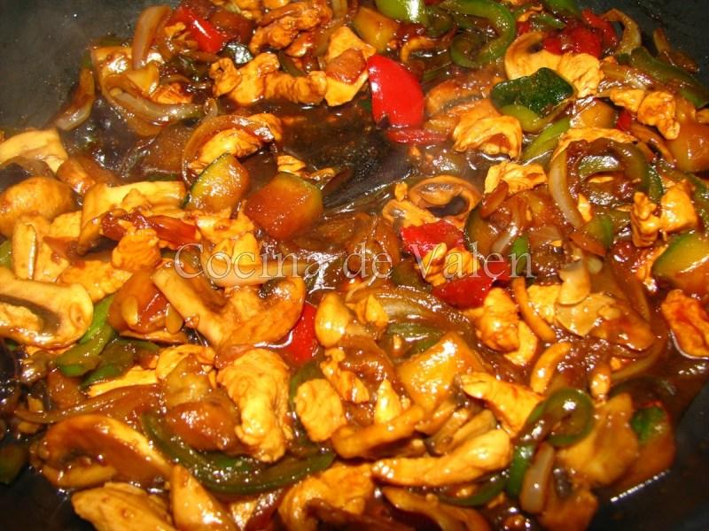Fideos chinos al wok - Cocina de Valen