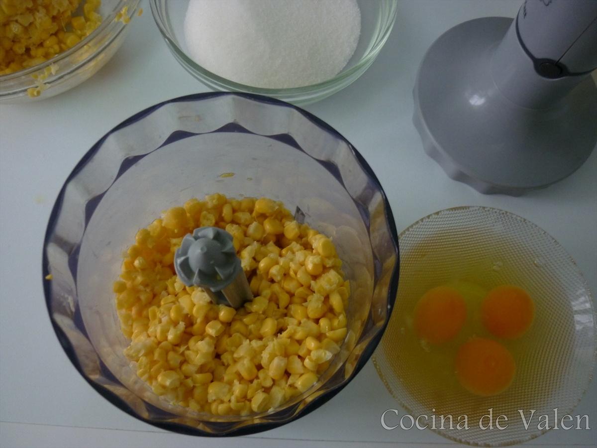 Ingredientes Torta de maíz