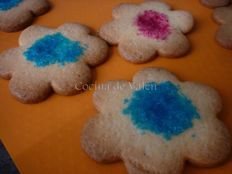 Galletas con topping de azúcar de color - Cocina de Valen
