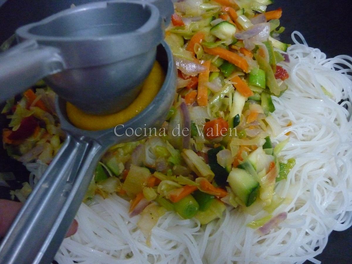 Pad Thai de Gambas - Cocina de Valen