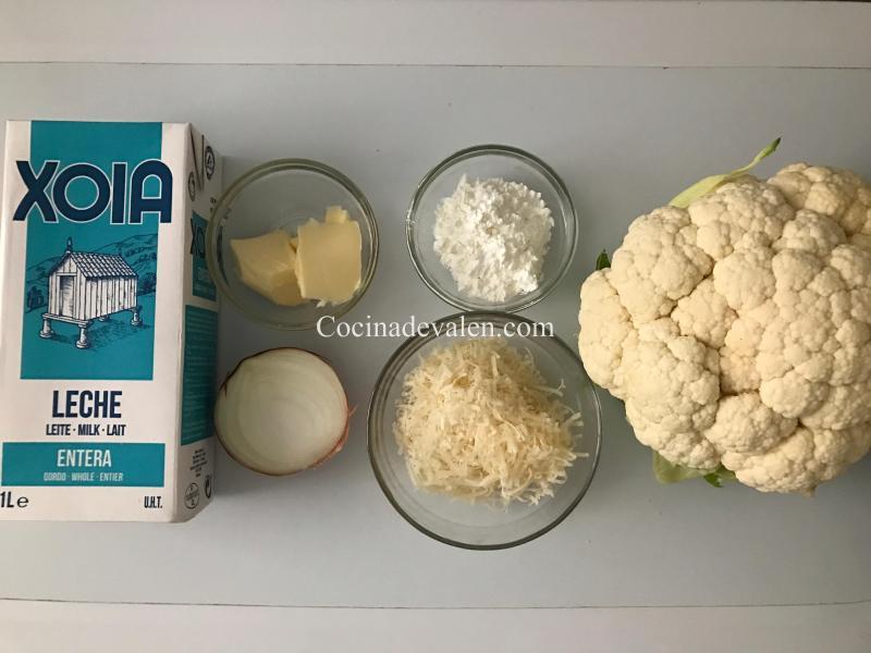 Coliflor gratinado - Cocina de Valen
