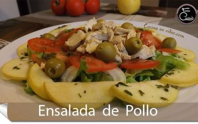 Ensalada de pollo al curry